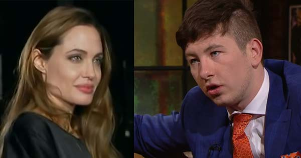 Angelina Jolie and Barry Keoghan