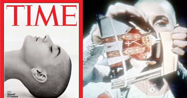 Sinéad O'Connor on Time Magazine cover