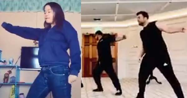 Westlife fan tries their dance moves