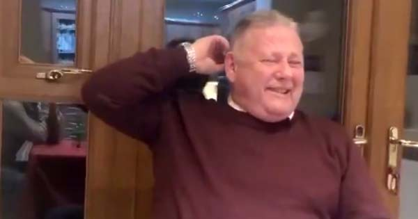 Great video of laughing Irish dad will have you in stitches