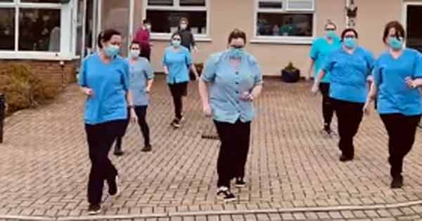 Irish nursing home staff and residents take on the Jerusalema dance challenge