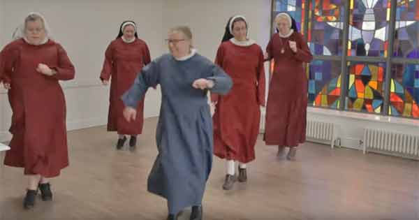 Irish priests and nuns beam with joy as they take on the Jerusalema dance challenge