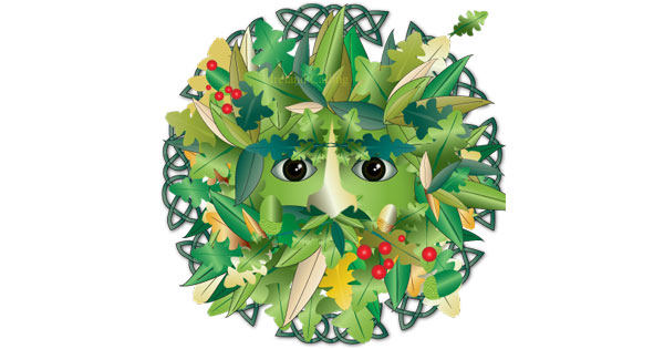 Green Man is a symbol of rebirth in Celtic Culture. copyright Ireland Calling
