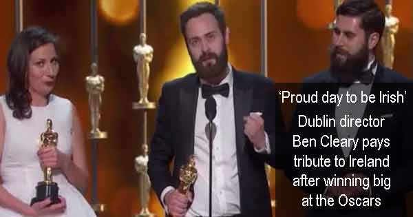 'Proud day to be Irish' - Dublin director Ben Cleary pays tribute to Ireland after winning big at the Oscars