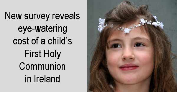New survey reveals eye-watering cost of a child's First Holy Communion in Ireland