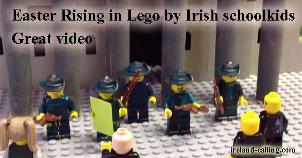 Easter Rising video in Lego by Cork schoolkids