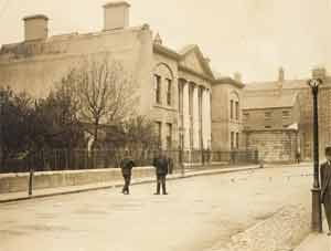 Green Street Courthouse, where O'Shea had the death penalty pronounced on him. Photo copyright National Library of Ireland.