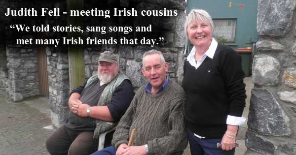 Australian Judith Fell meets her Irish relatives