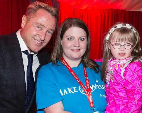 Michael Flatley and Maya Gillick met thanks to the Make A Wish Foundation. Photo from Michael Flatley's Facebook page.