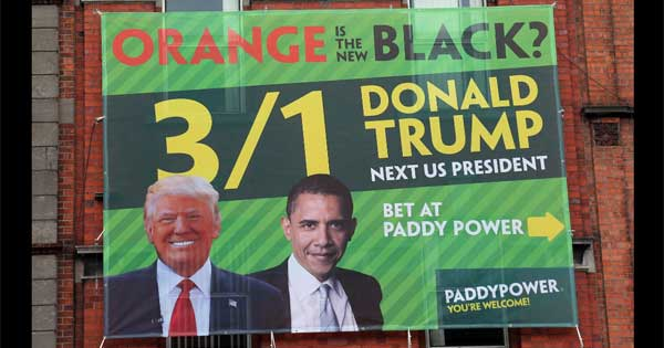 Paddy Power create outrageous billboard poster for Donald Trump