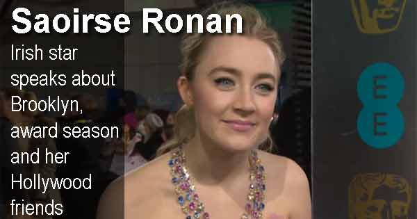 Saoirse Ronan on the red carpet at the BAFTAs