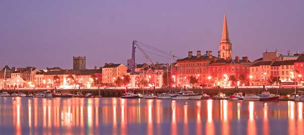 Waterford at night. Photo copyright Tony Quilty CC2