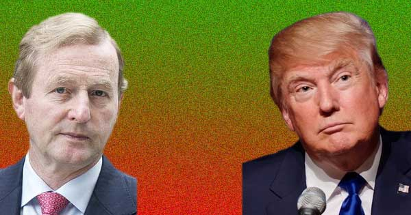 """Taoiseach claims Donald Trump comments are """"racist and dangerous"""". Photo copyright Department of Health CC2 and Michael Vadon CC2"""