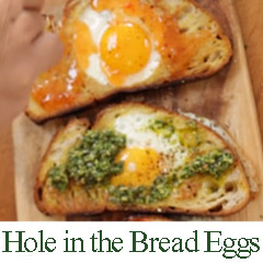 Hole in Bread Eggs recipe