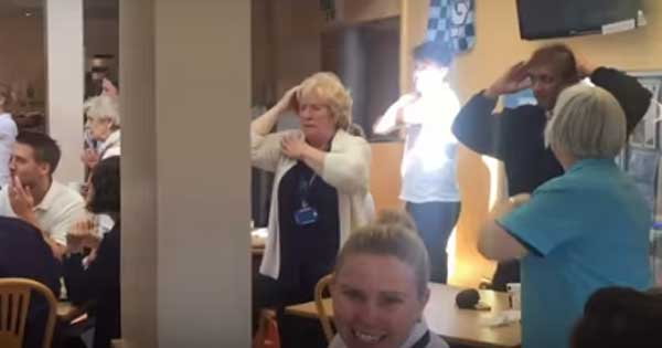 Dublin hospice lit up by Macarena flashmob from patients and staff