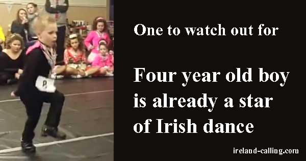 Four-year-old boy is already a star of Irish dance