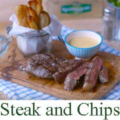 Steak and Chips recipe